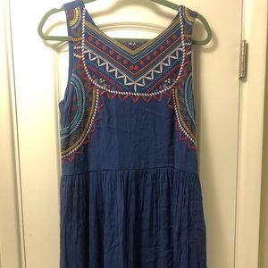 Colorful Embroidered Xhilaration Dress